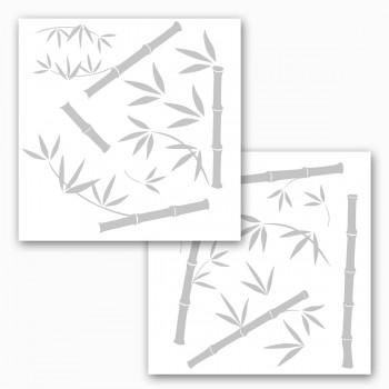 Naklejka Komar na okno 16001 Bamboo | (2 * 31 x 31 cm) - Sklep z Naklejkami ściennymi Tapetydekoracje.pl