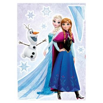 Naklejka Komar 14046 Frozen Sisters | (50 x 70 cm) - Sklep z Naklejkami ściennymi Tapetydekoracje.pl