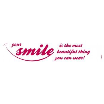 Naklejka Komar 18005 Your Smile | (14 x 70 cm) - Sklep z Naklejkami ściennymi Tapetydekoracje.pl