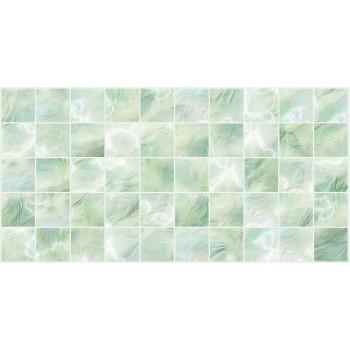 Panele Ścienne PCV 09505 Kafelki Zielona Masa Perłowa (964 x 484 mm) - Sklep z Panelami Ściennymi PCV Tapetydekoracje.pl