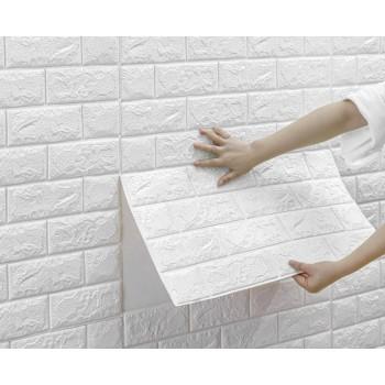Tapeta Samoprzylepna Biała Cegła (70cm x 70cm) Sklep z Tapetami Samoprzylepnymi Tapetydekoracje.pl