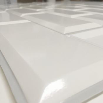 Panele Ścienne PCV 17314 Kafelki Biała Płytka (966 x 484 mm) - Sklep z Panelami Ściennymi PCV Tapetydekoracje.pl