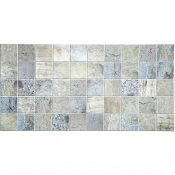 Panele Ścienne PCV 09500 Kafelki Niebieski Marmur (964 x 484 mm) - Sklep z Panelami Ściennymi PCV Tapetydekoracje.pl