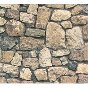 Tapeta Beżowy Kamienny Mur AS-Creation AS859532 - Sklep z Tapetami na ścianę Tapetydekoracje.pl