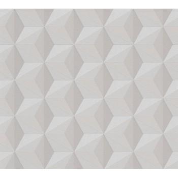 Tapeta Beżowe Sześciokąty 3D AS-Creation AS962551 - Sklep z Tapetami na ścianę Tapetydekoracje.pl