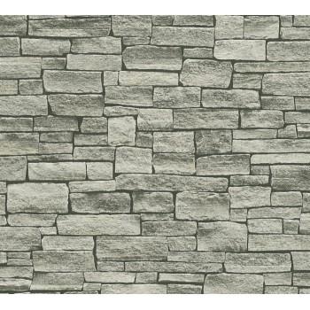 Tapeta Szary Kamienny Mur AS-Creation AS958712 - Sklep z Tapetami na ścianę Tapetydekoracje.pl
