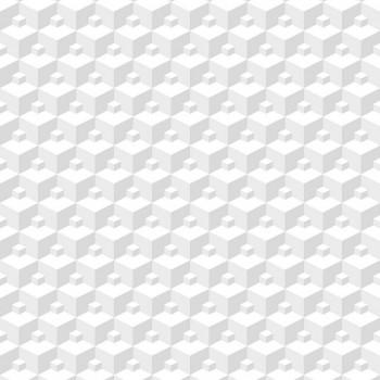 """Tapeta 3D Figury Geometryczne Białe """"Modern"""" Sintra 356609 - Sklep z Tapetami na ścianę Tapetydekoracje.pl"""