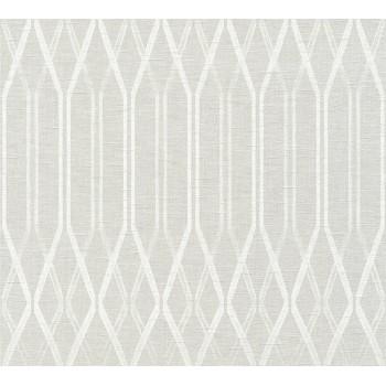 Tapeta Białe Geometryczne Wzory na Kremowym Tle AS-Creation AS366321 - Sklep z Tapetami na ścianę Tapetydekoracje.pl