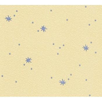 Tapeta Szare Gwiazdy na Żółtym Tle AS-Creation AS911735 - Sklep z Tapetami na ścianę Tapetydekoracje.pl