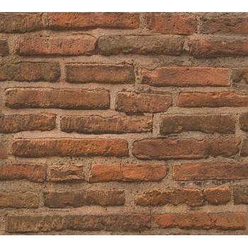 Tapeta Pomarańczowa Ceglana Ściana AS-Creation AS307471 - Sklep z Tapetami na ścianę Tapetydekoracje.pl