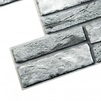 Panele Ścienne PCV 19926 Kamień Szary z Fugą (955 x 476 mm) - Sklep z Panelami Ściennymi PCV Tapetydekoracje.pl