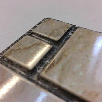 Panele Ścienne PCV 09775 Mozaika Marmur Ze Złotem (955 x 480 mm) - Sklep z Panelami Ściennymi PCV Tapetydekoracje.pl