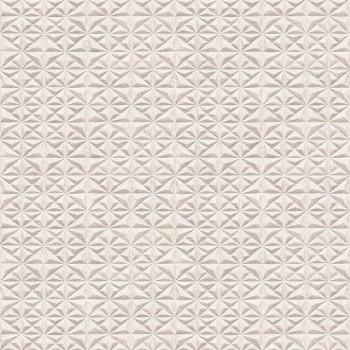 """Tapeta Tłoczona Trójkąty Beżowe """"Livio"""" Sintra 402504 - Sklep z Tapetami na ścianę Tapetydekoracje.pl"""