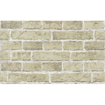 Tapeta Cegła Ściana Blado Zielona z Białą Fugą Bravo 80583BR20 - Sklep z Tapetami na ścianę Tapetydekoracje.pl