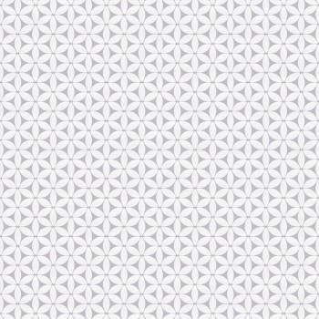"""Tapeta Białe Płatki Kwiatów na Szarym Tle """"Trend Art 5"""" Sintra 469156 - Sklep z Tapetami na ścianę Tapetydekoracje.pl"""