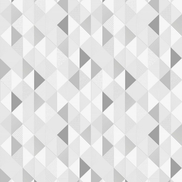 """Tapeta Szaro Białe Trójkąty na Szarym Tle """"Trend Art 5"""" Sintra 469002 - Sklep z Tapetami na ścianę Tapetydekoracje.pl"""