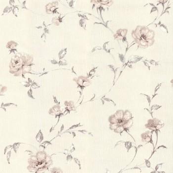 """Tapeta Kwiaty na Beżowym Tle """"Summer Garden"""" Sintra 429006 - Sklep z Tapetami na ścianę Tapetydekoracje.pl"""