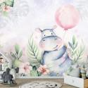 Fototapeta  13638 Hipopotam z balonikiem - Sklep z Tapetami klasycznymi Tapetydekoracje.pl