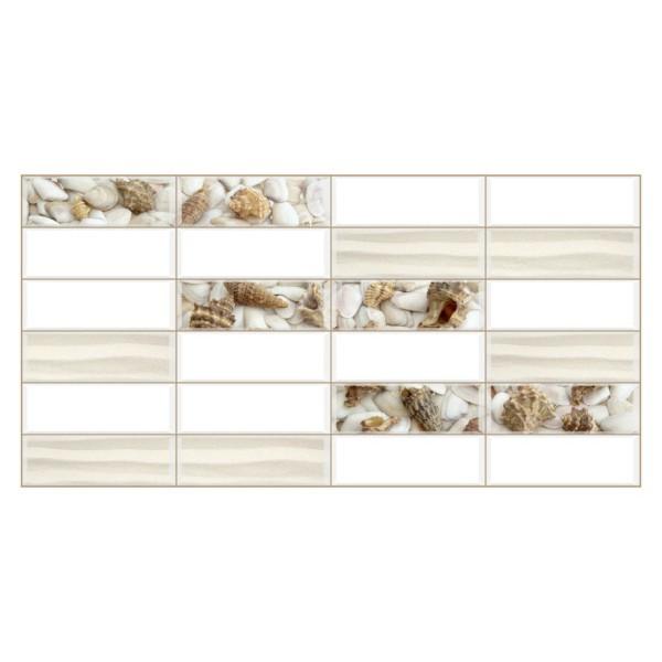 Panele Ścienne PCV 14005 Kafelki plaża (955 x 480 mm) - Sklep z Panelami Ściennymi PCV Tapetydekoracje.pl