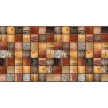 Panele Ścienne PCV 13962 Kafelki Drewno Barwione (955 x 480 mm) - Sklep z Panelami Ściennymi PCV Tapetydekoracje.pl