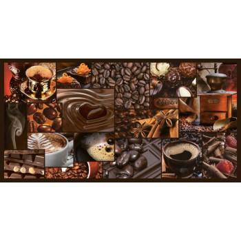 Panele Ścienne PCV 07980 Mozaika Zapach Kawy (955 x 480 mm) - Sklep z Panelami Ściennymi PCV Tapetydekoracje.pl