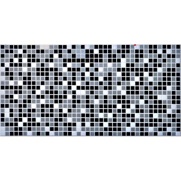 Panele Ścienne PCV 16507 Mozaika Czarna (955 x 480 mm) - Sklep z Panelami Ściennymi PCV Tapetydekoracje.pl
