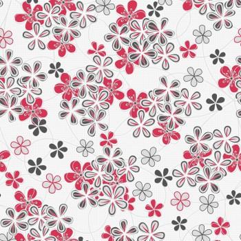 """Tapeta Czerwone Kwiaty na Białym Tle """"Trend Art 6"""" Sintra 485545 - Sklep z Tapetami na ścianę Tapetydekoracje.pl"""