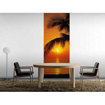 Fototapeta Komar 2-1255 Palmy Beach Sunrise (92 x 220 cm) - Sklep z Fototapetami Tapetydekoracje.pl
