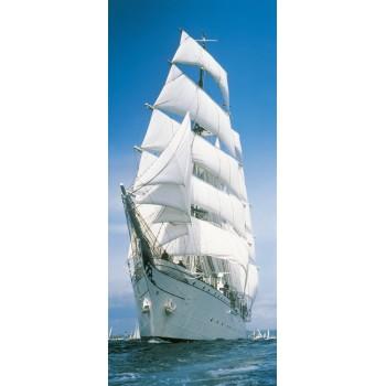 Fototapeta Komar 2-1017 Sailing Boat (86 x 220 cm) - Sklep z Fototapetami Tapetydekoracje.pl