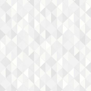 Tapeta Szaro Białe Trójkąty na Białym Tle Sintra 469057 - Sklep z Tapetami na ścianę Tapetydekoracje.pl