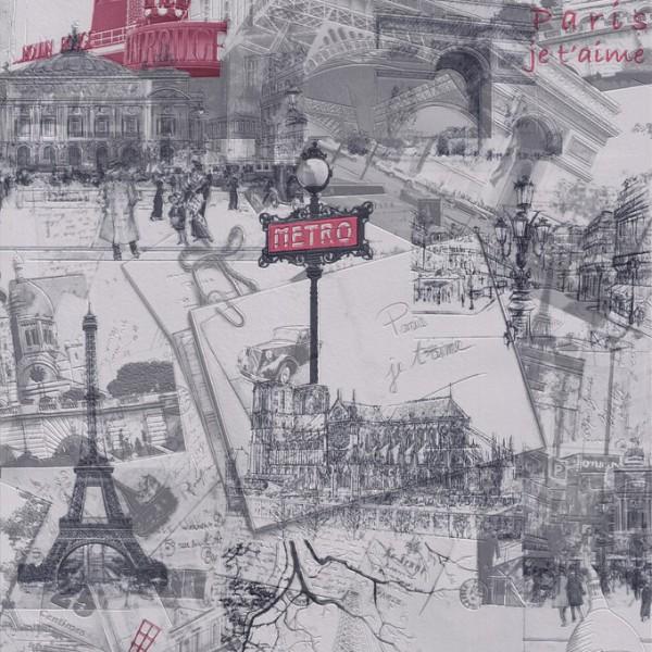 """Tapeta Miasto Paryż """"Decoration"""" 496411  - Sklep z Tapetami na ścianę Tapetydekoracje.pl"""
