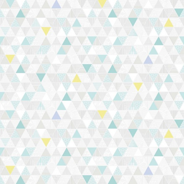 """Tapeta Trójkąty Żółto Seledynowe na Białym Tle """"Modern"""" Sintra 356005 - Sklep z Tapetami na ścianę Tapetydekoracje.pl"""