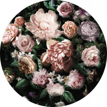Fototapeta okrągła ekskluzywne kwiaty D1032 - Sklep z Fototapetami Tapetydekoracje.pl