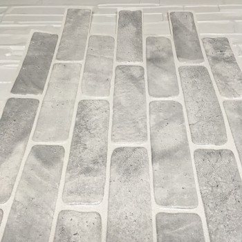 Panele Ścienne PCV 14022 Cegła Rustykalna Szara (1025 x 495 mm) - Sklep z Panelami Ściennymi PCV Tapetydekoracje.pl