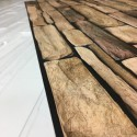 Panele Ścienne PCV 06921 Kamień Łupek Naturalny (980 x 498 mm) - Sklep z Panelami Ściennymi PCV Tapetydekoracje.pl