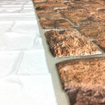 Panele Ścienne PCV 07349 Kamień Naturalny (980 x 498 mm) - Sklep z Panelami Ściennymi PCV Tapetydekoracje.pl