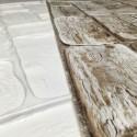 Panele Ścienne PCV 17657 Bale Drewno Białe (960 x 479 mm) - Sklep z Panelami Ściennymi PCV Tapetydekoracje.pl