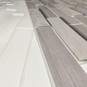 Panele Ścienne PCV 09502 Parkiet Dąb Popielaty (980 x 480 mm) - Sklep z Panelami Ściennymi PCV Tapetydekoracje.pl