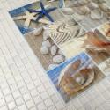 Panele Ścienne PCV 07983 Mozaika Plaża (955 x 480 mm) - Sklep z Panelami Ściennymi PCV Tapetydekoracje.pl