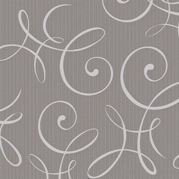 """Tapeta Białe Ornamenty na Beżowym Tle """"Selection"""" Sintra 303856 - Sklep z Tapetami na ścianę Tapetydekoracje.pl"""