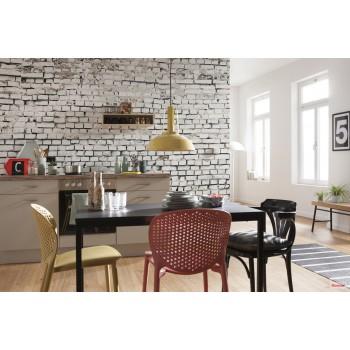 Fototapeta Cegła Biała Ściana Komar 8-881 White Brick (368 x 254 cm) - Sklep z Fototapetami na ścianęTapetydekoracje.pl
