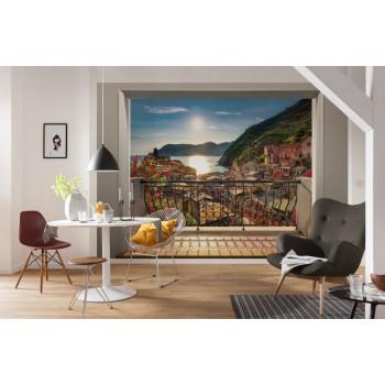 Fototapeta 3D Miasto Włochy z Balkonu Komar 8-988 Vernazza (368 x 254 cm) - Sklep z Fototapetami na ścianęTapetydekoracje.pl