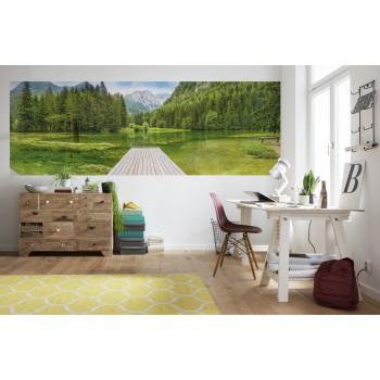 Fototapeta Komar 4-538 Green Lake (368 x 127 cm) - Sklep z Fototapetami Tapetydekoracje.pl